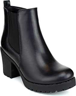 chunky rubber heel boots