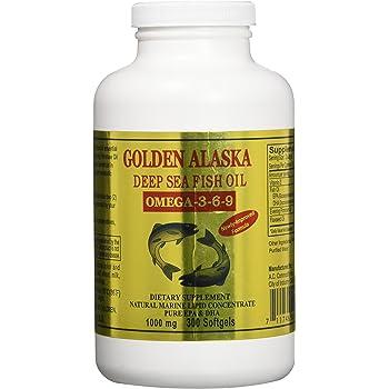 Amazon Com Golden Alaska Deep Sea Omega 3 6 9 Fish Oil 1000mg 300