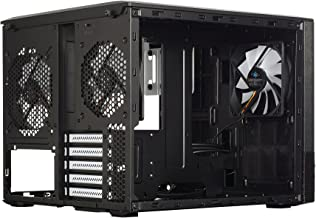 Fractal Design Node 804 No Power Supply MicroATX Cube Case FD-CA-NODE-804-BL, Black