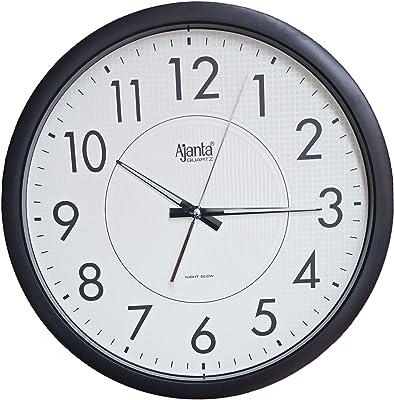 Ajanta Quartz Night Glow Radium Clock (366x47x366 mm)