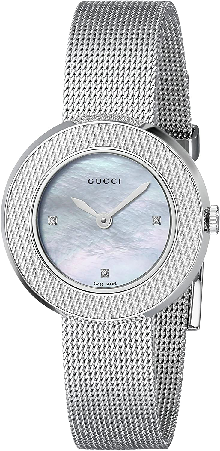 Gucci U-Play Stainless Steel Popular brand Regular store with Watch Women's