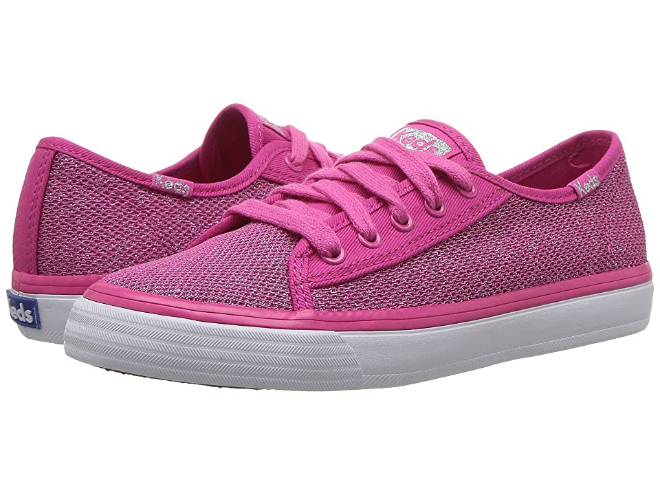 Keds Kids Double Up (Little Kid/Big Kid) (Pink Mesh Sugar Dip) Girl