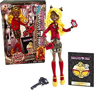 Monster High Mattel Year 2013 Frights, Camera, Action! Hauntlywood Series 11 Inch Doll Set - CLAWDIA Wolf Daughter of The Werewolf with Glasses, Tablet, Stylus, Red Book, Hairbrush and Doll Stand
