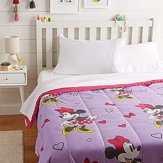 AmazonBasics by Disney Minnie Mouse Purple Love Comforter, Full