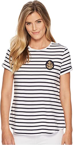 LAUREN Ralph Lauren Bullion-Patch Striped T-Shirt