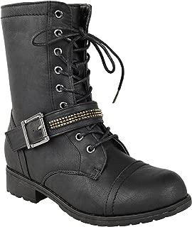 Bottines Femme à Lacets Bottines à Talon Massif Shoes Sz 3-8