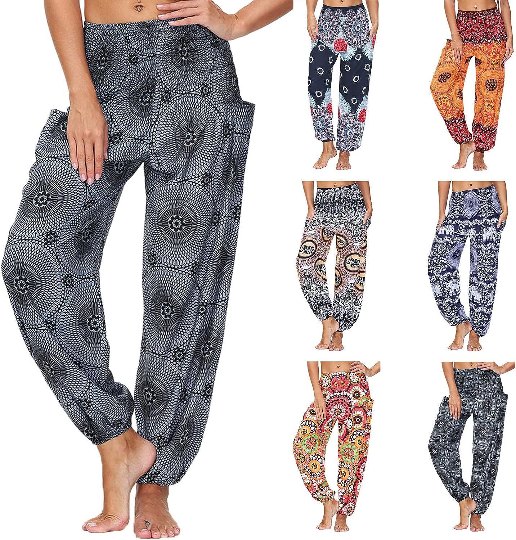 USYFAKGH Women's Pants Palazzo Lounge Pants Harem Pants Pajama Casual Loose Yogapants Trousers Baggy Harem Pants