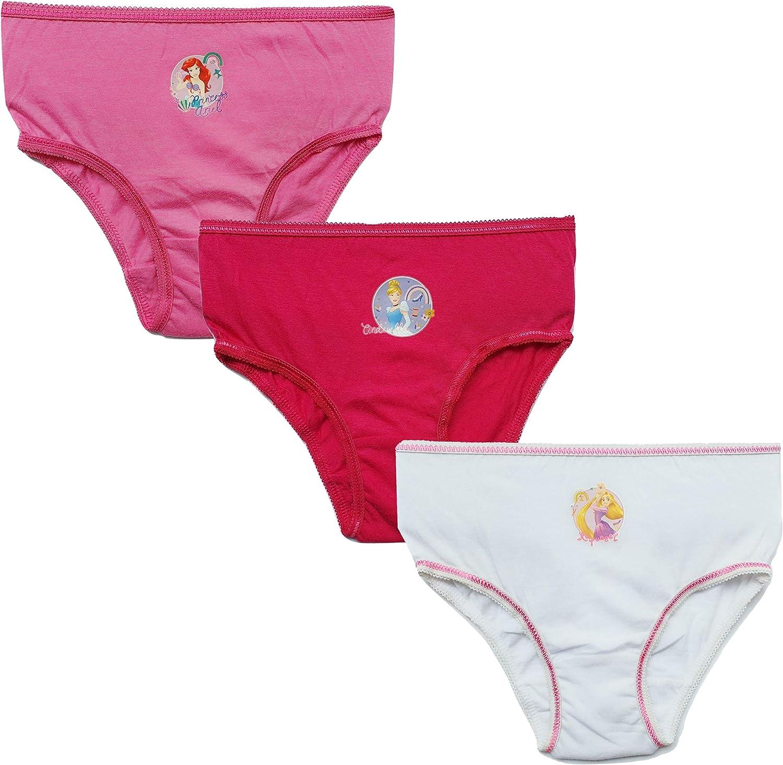 Girls Disney Princess Pants Knickers Princess Underwear 3 Pack