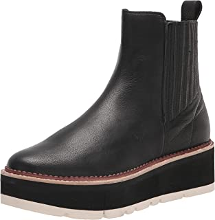 Dolce Vita Women's Trevor Ankle Boot, Black Leather, 8.5