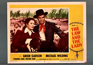 MOVIE POSTER: LAW AND THE LADY-LOBBY CARD #8-1951-GREER GARSON MICHAEL WILDING-FN/VF FN/VF