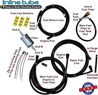 Inline Tube 3//8 OE Steel Pump to Carburetor Line Compatible with 1979 Pontiac Firebird and Trans Am with Oldsmobile 403CID and 4BBL MFG73537 X-4-2