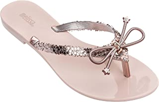 melissa Womens Harmonic Elements Flip Flop Sandal, Rose Gold, Size 8