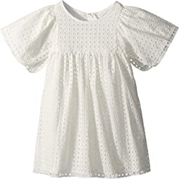 French Embroideries Short Sleeve Dress (Toddler/Little Kids)
