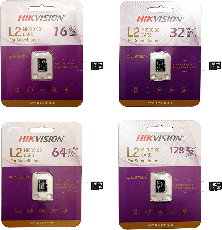 64GB MicroSDXC Memory Card for Video Surveillance Hikvision/EZVIZ IP Camera, TF, Class 10, UHS-I PFM114 TLC Micro SD Card