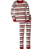 Hatley Kids - Holiday Stripe Henley PJ Set (Toddler/Little Kids/Big Kids)
