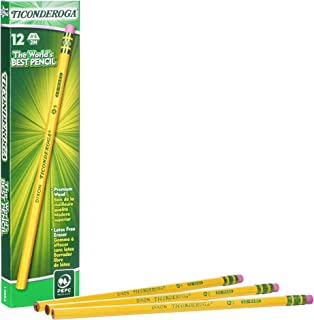Ticonderoga Pencils, Wood-Cased Graphite #4 2H Extra Hard, Yellow, 12-Pack (13884)