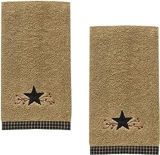 Park Designs Star Vine Terry Embroidered Cotton Fingertip Towel - Set of 2