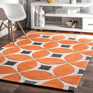 nuLOOM Gabriela Contemporary Area Rug, 4' x 6', Deep Orange