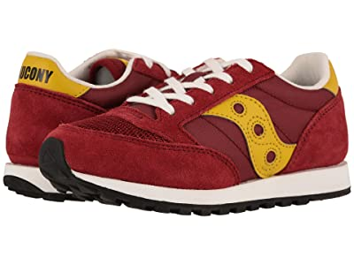 Saucony Kids Originals Jazz Original Vintage (Toddler/Little Kid) (Burgundy/Mustard) Kids Shoes