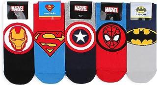 Marvel DC Comics Official Socks (5 Pairs) NA