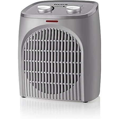 Taurus Tropicano Bagno Termoventilador, calefactor compacto, seguridad IP21 especial baños, termostato regulable, 2 velocidades de calor (1000W - 2000W) + ventilador, luz led, silencioso