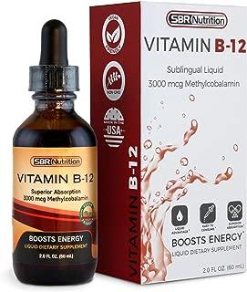 Vitamin B12 Sublingual Liquid Drops - Methylcobalamin, VIT B 12 Supports Energy, Max Absorption, 3000mcg Per Serving, 60 Servings, Non-GMO, Vegan Friendly, Manufactured in The USA