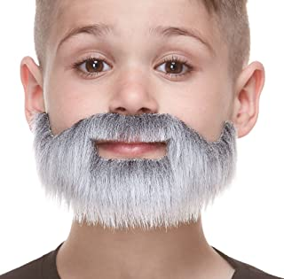 Mustaches Fake Beard, Self Adhesive, Novelty, Small, Short Boxed False Facial Hair, Costume Accessory for Kids