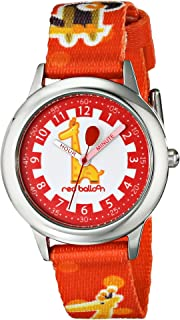Red Balloon Kids' W000189 Jungle Animals Stainless Steel Time Teacher Watch