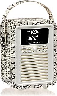 VQ Retro Mini DAB & DAB+ Digital Radio with FM, Bluetooth & Alarm Clock - Emma Bridgewater Black Toast