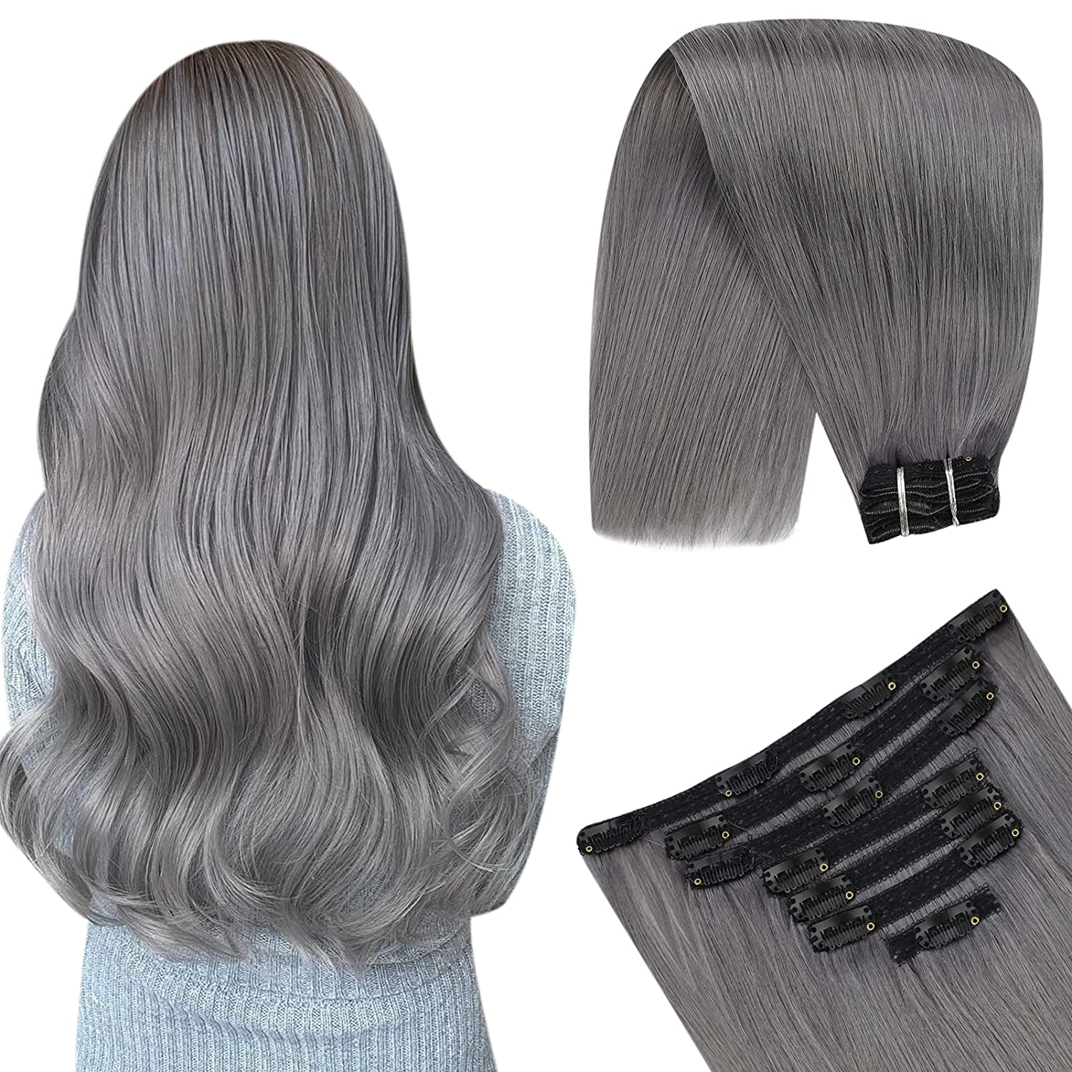 YoungSee Weft Sale SALE% OFF Hair Extensions Human Excellence Clip Hai in 22inch Long