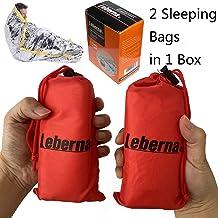 Leberna Thermal Emergency Sleeping Bag Mylar Survival Gear Foil Bivy Sack Shelter Supply..