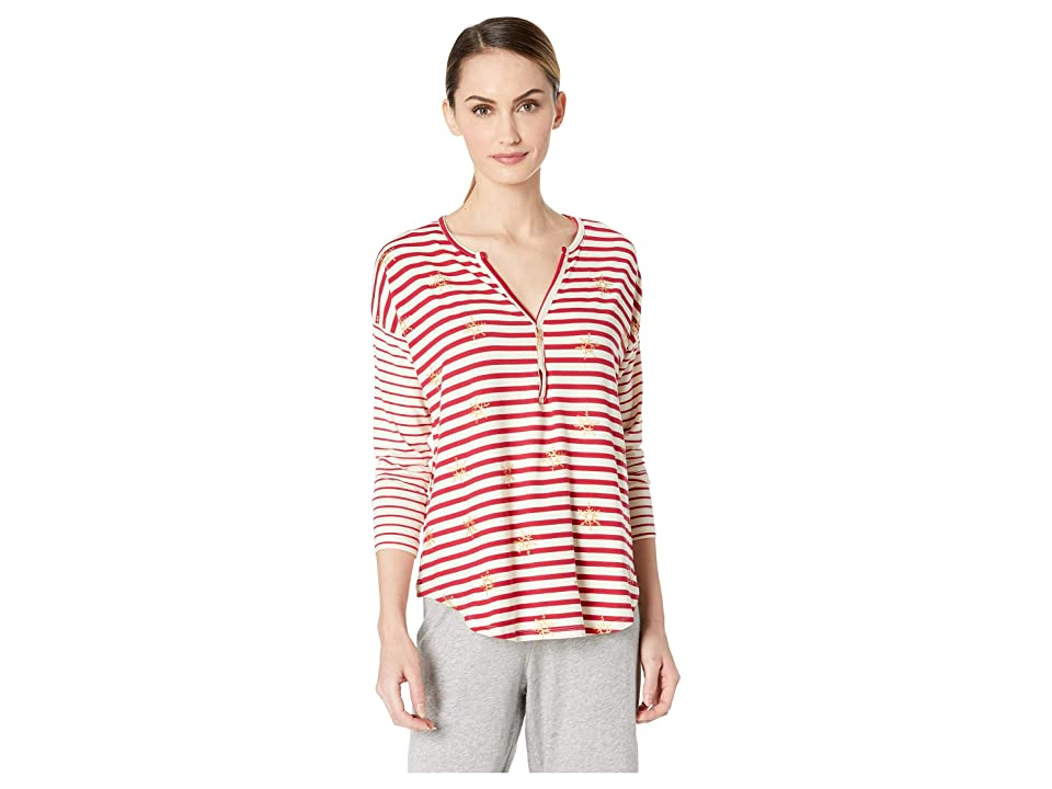 Hatley Henley Lounge Top (Natural) Women