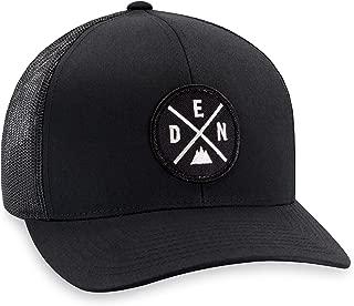 DEN Hat – Denver Trucker Hat Baseball Cap Snapback Golf Hat (Black)