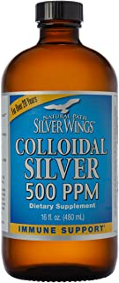 Natural Path Silver Wings - Colloidal Silver 500 ppm - Pure Mineral Supplement - Immune Support for Your Family - Powerful...