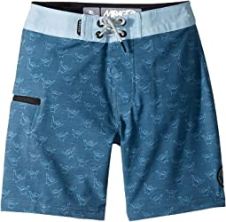 Mirage Sharks Cover Boardshorts (Big Kids)