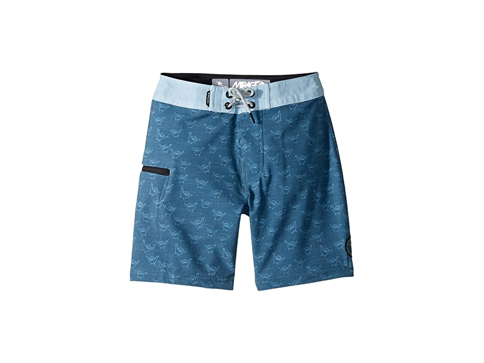 Rip Curl Kids Mirage Sharks Cover Boardshorts (Big Kids) (Blue) Boy