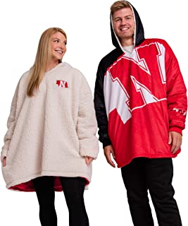 FOCO Reversible Oversized Sherpa Hoodie Sweatshirt Colorblock Hoodeez