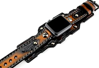 Burnt Looking Apple Watch Band, apple watch strap, Brown watch strap, Apple watch cuff, Leather strap for Apple watch 38 or 42mm