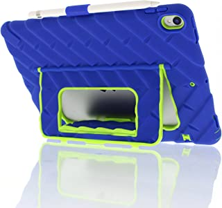 Gumdrop Cases Hideaway Stand Case for Apple iPad Pro 10.5 (2017) A1701, A1709 Tablet Armor Protection, Royal Blue/Lime Green