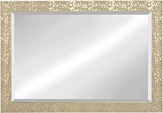 Kate and Laurel Coolidge Framed Beveled Wall Mirror, 29x41, Champagne Gold
