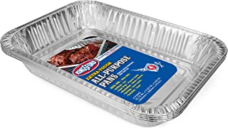 Kingsford BB0489 Extra Tough All-Purpose Aluminum Pans, 4 Pack | Disposable A, 4 Count, Silver