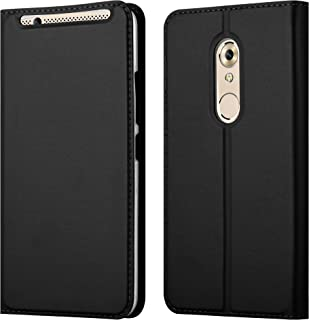Cadorabo Book Case Works with ZTE Axon 7 in Classy Black – with Magnetic Closure, Stand Function and Card Slot – Wallet Etui Cover Pouch PU Leather Flip
