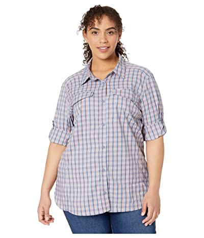 Columbia Plus Size Silver Ridge Lite Plaid Long Sleeve (New Moon Gingham Plaid) Women