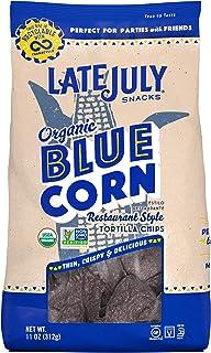 Late July Snacks Restaurant Style Blue Corn Tortilla Chips, 11 oz. Bag, 112727