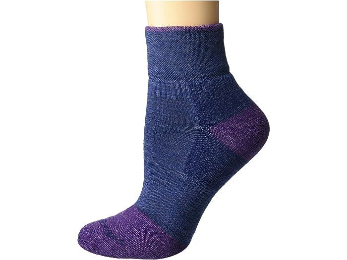 Darn Tough Womens 1//4 Steely Midweight Sock with Cushion /& Full Cush Toe Box Womens