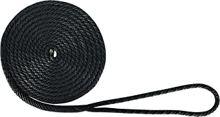 Extreme Max 3006.2003 BoatTector Solid Braid MFP Dock Line-3/8 x 15', Black