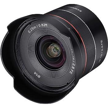 Samyang SYIO18AF-E AF 18mm F2.8 Wide Angle auto Focus Full Frame Lens for Sony E Mount, Black