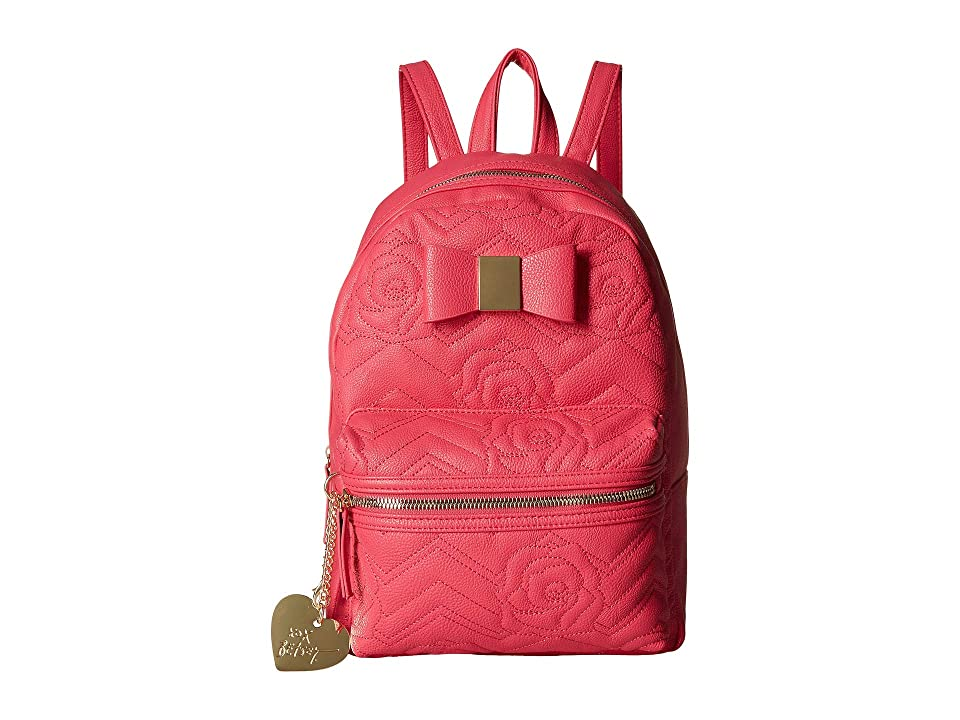 1a43b78e00 Betsey Johnson Backpack with Dangle (Coral) Backpack Bags