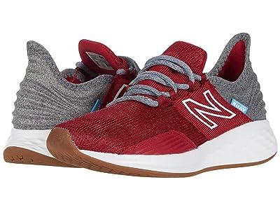 New Balance Kids Fresh Foam Roav (Little Kid) (Neo Crimson/Light Aluminum) Boys Shoes