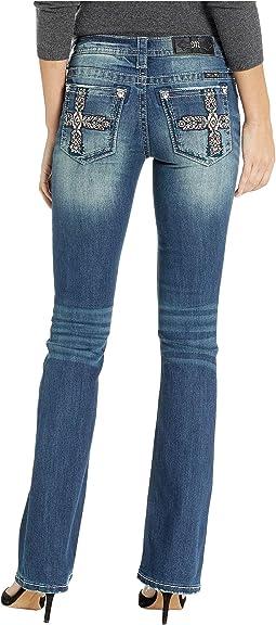 Cross Bootcut Jeans in Medium Blue